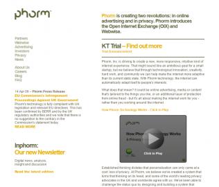 Phorm.com v roce 2009
