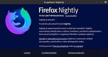 Firefox Nightly s novým logem