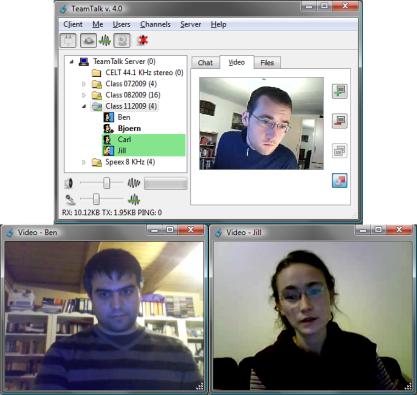 TeamTalk vám nabídne možnost týmové video konference