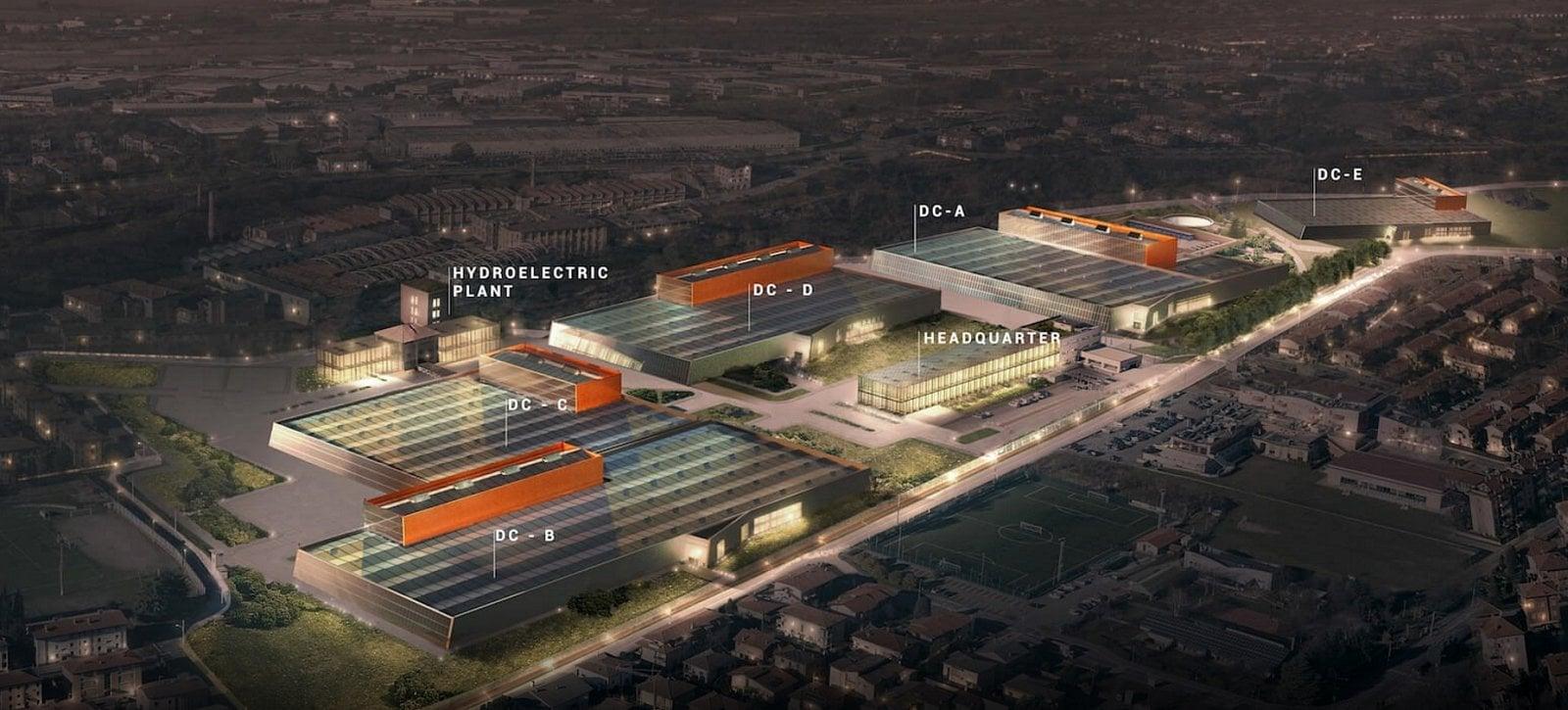 Nové datacentrum Aruba Group v Ponte San Pietro v Itálii