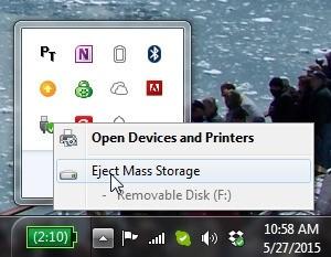 Odpojení hardwaru ve Windows