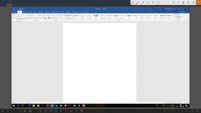 Aplikace Skica na obrazovce ve Windows 10