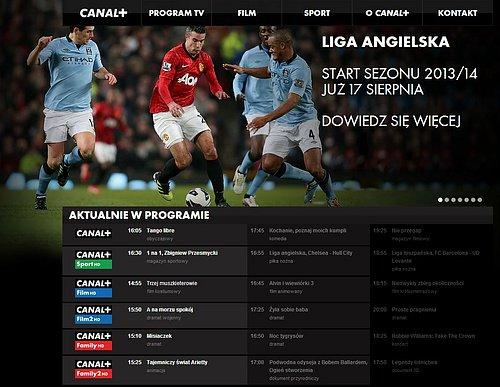Anglická Premier League byla na webu canalplus.pl o víkendu hlavním tahákem.
