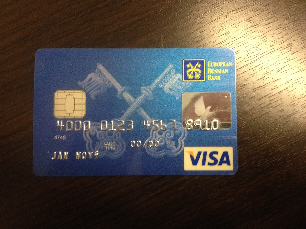 ERB Bank platební karta