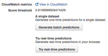 Realtime predictions