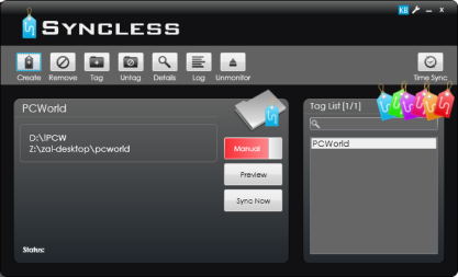 Syncless synchronizuje pomocí tagů