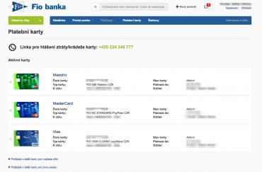 Internetové bankovnictví FIO Bank