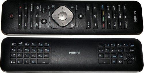 K televizorům jsou dodávána oboustranná dálková ovládání s klávesnicí. Vygeneruje také pohyb ruky v které jej držíme a posouváme tak kurzor po obrazovce nahoru/dolů/vlevo, nebo vpravo aniž bychom museli tisknout jakékoliv tlačítko