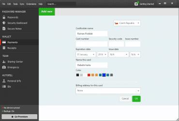 <p>V aplikaci snadno ochráníte i informace o vašich platebních kartách</p>