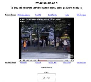 JetMusic 2/2011 - k pohledání vkusné a profesionální intro do připravovaného hudebního portálu velkých vydavatelů.