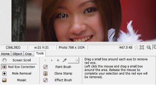 Odstranění efektu červených očí
