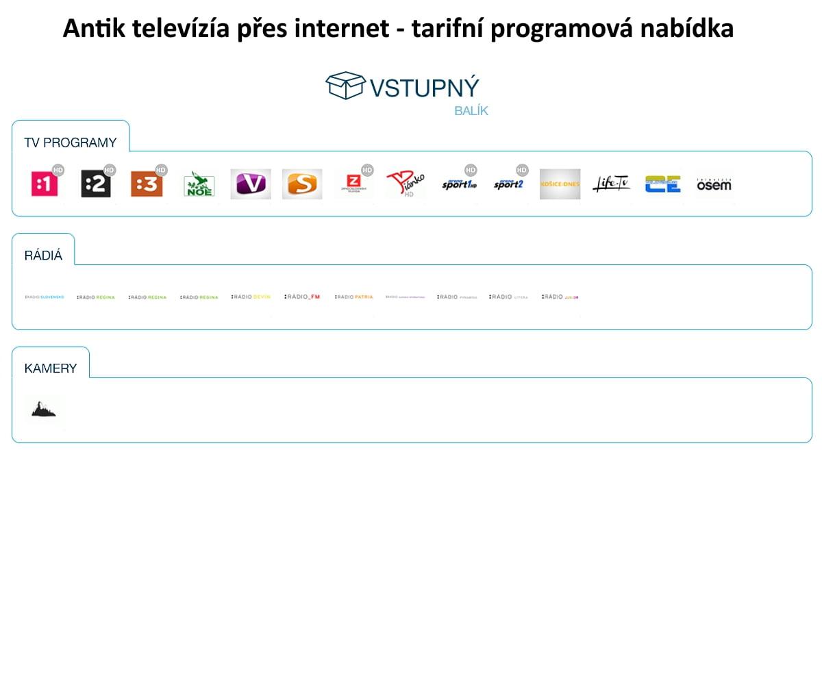 Programové nabídky Antik Telecom