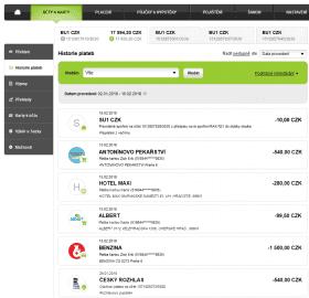Nový vzhled internetového bankovnictví.