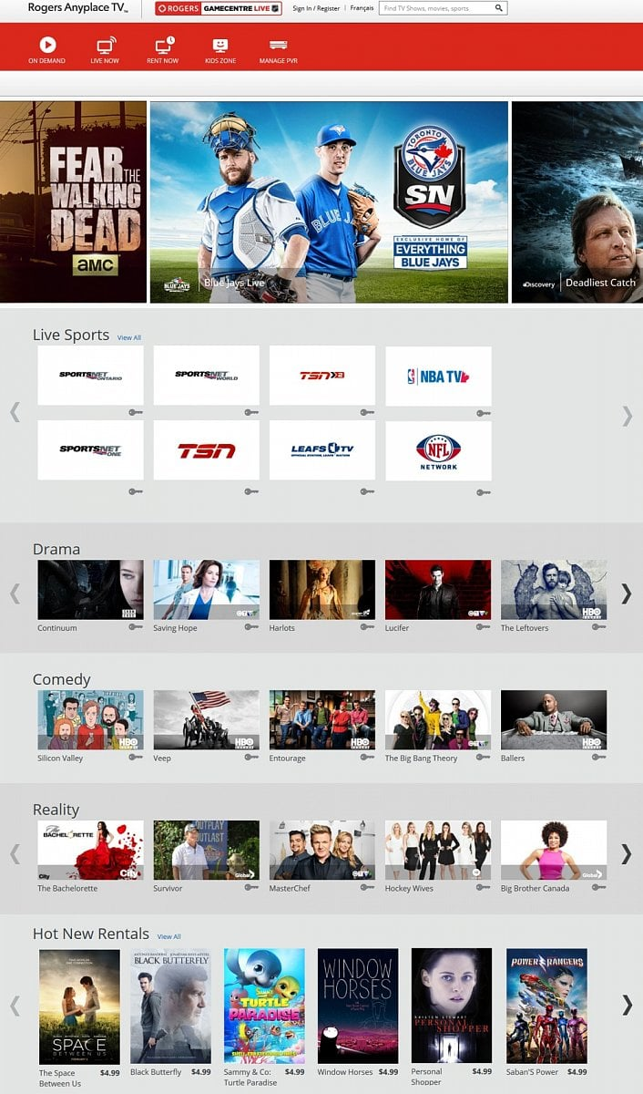 Internetová verze Rogers Cable – Rogers Anyplace TV™