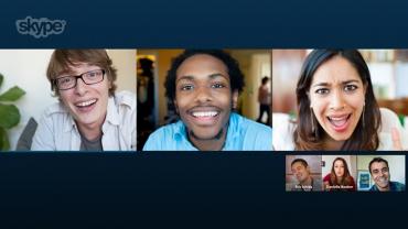Dotykový Skype a skupinový videohovor.