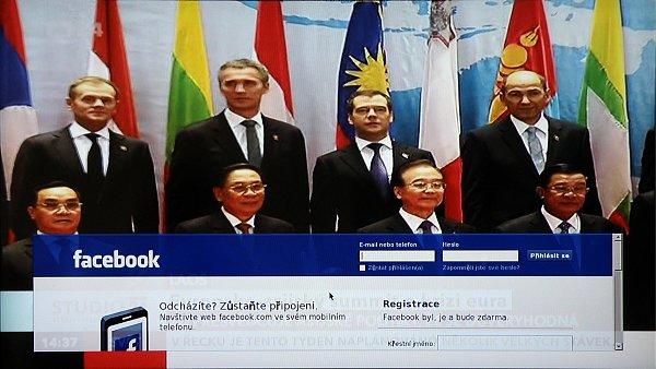 Naistalovaný Facebook umožní přihlášení do vašeho profilu a přitom sledovat dění na obrazovce. Tady je však třeba připomenout, že k usnadnění ovládání bych doporučoval dokoupit klávesnici.