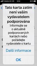 Karty Visa od Raiffeisenbank zatím nejsou v Apple Pay podporovány. (15. 10. 2019)