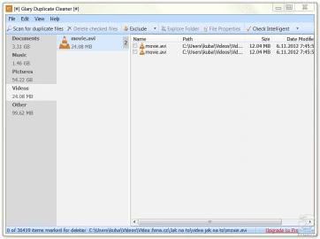 <p>Glary Duplicate Cleaner najde a odstraní duplicitní soubory na disku</p>