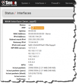 pfSense 2.3 LTE PPP Status