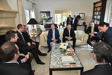 Setkání premiéra Bohuslava Sobotky a šéfa CzechInvestu Karla Kučery s českými firmami v Silicon Valley.
