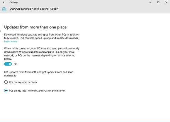 Využití P2P sítí při distribuci aktualizací Windows