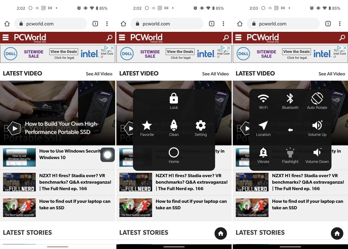 Další možnosti přizpůsobení pro navigaci máte k dispozici v různých aplikacích pro přizpůsobení. Tyto aplikace najdete v Obchodu Play.
