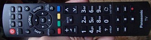 Dálkový ovladač je jedním slovem pohodový. To ale platí o všech televizorech Panasoniku.