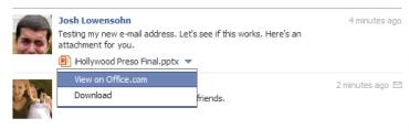 Přílohy MS Office ve Facebook Messages