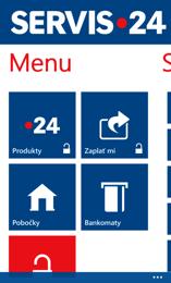 Mobilní aplikace Servis 24 pro Windows Mobile