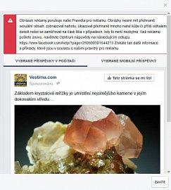 Facebook a jeho posuzování reklamy. 200% mimoni.