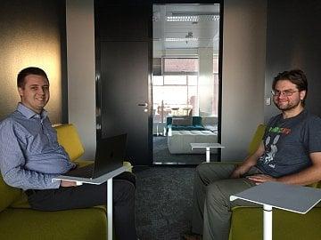 Jiří Brunclík (vlevo) a Antonín Král z české vývojové centrály ShowMaxu.