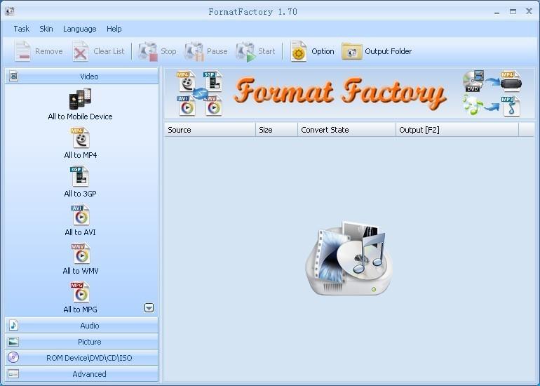 FormatFactory si poradí s převodem obrázků, hudby i videí