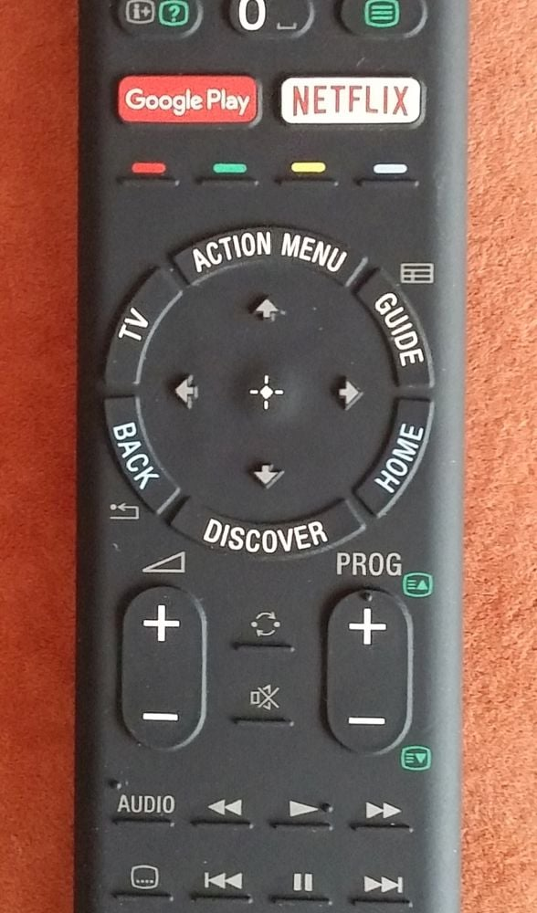 Sony KD-55XD8005 – Action menu a dálkový ovladač