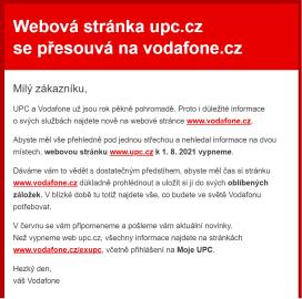 Informace pro klienty UPC