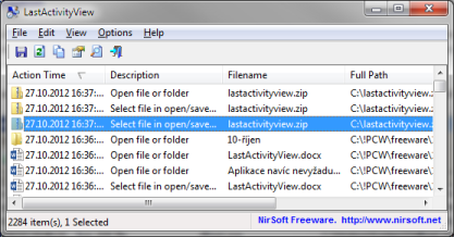 LastActivityView vám prozradí vše o aktivitách systému