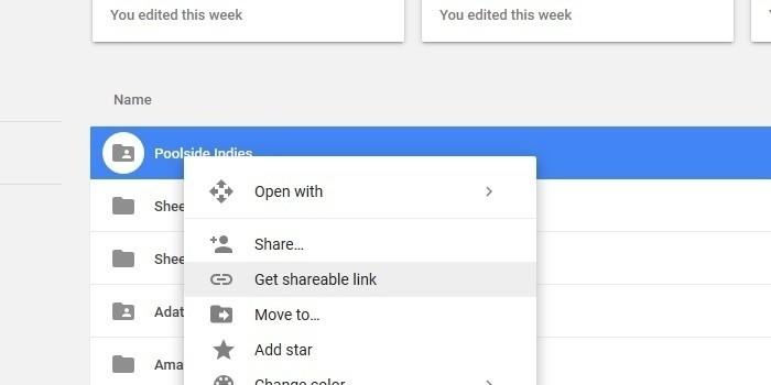Vytvoření odkazu pro sdílení ve službě Google Drive