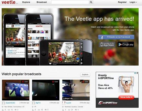 Horror HD sliboval vysílání i přes videoportál Veetle.
