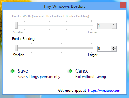 Tiny Windows Borders for Windows 8 zmenší okraje oken ve Windows 8