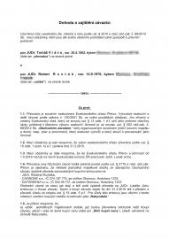 Návrh dohody o převodu majetku mezi JUDr. Robertem Runtákem a JUDr. Tomášem Vránou.