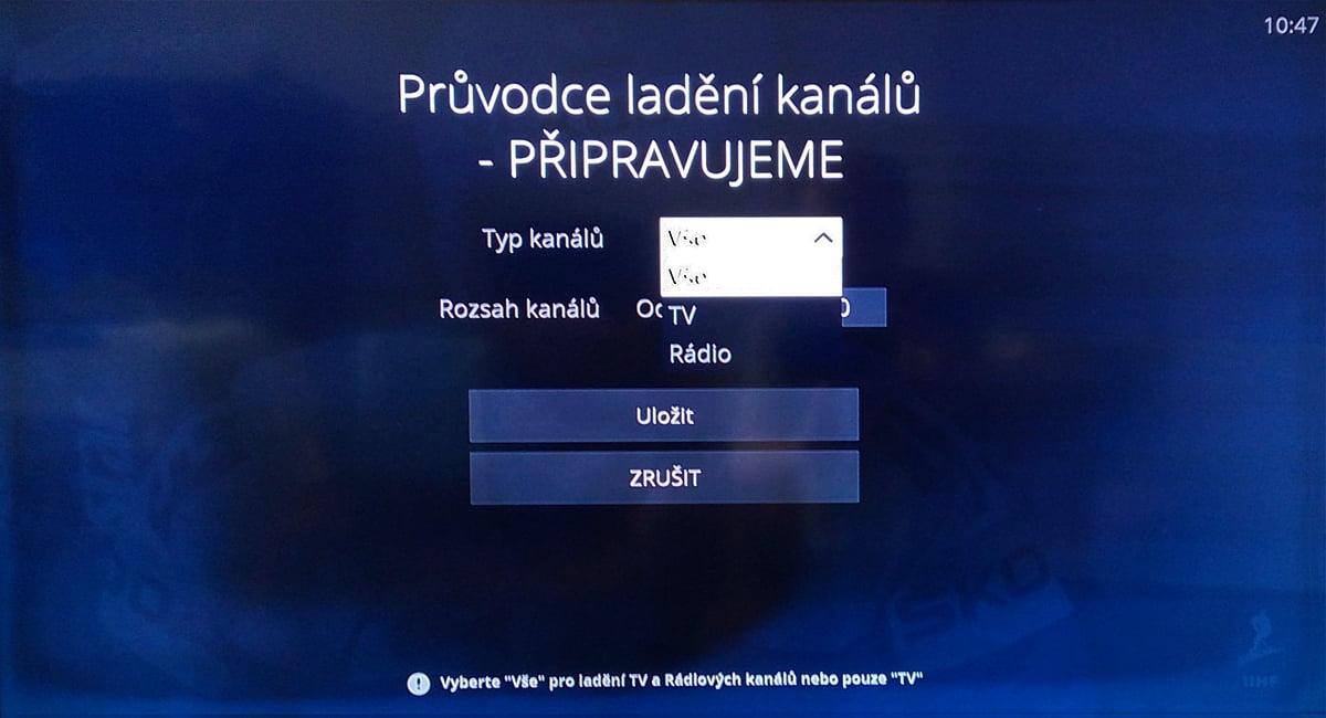 Naladění DVB-T kanálů na O2 TV