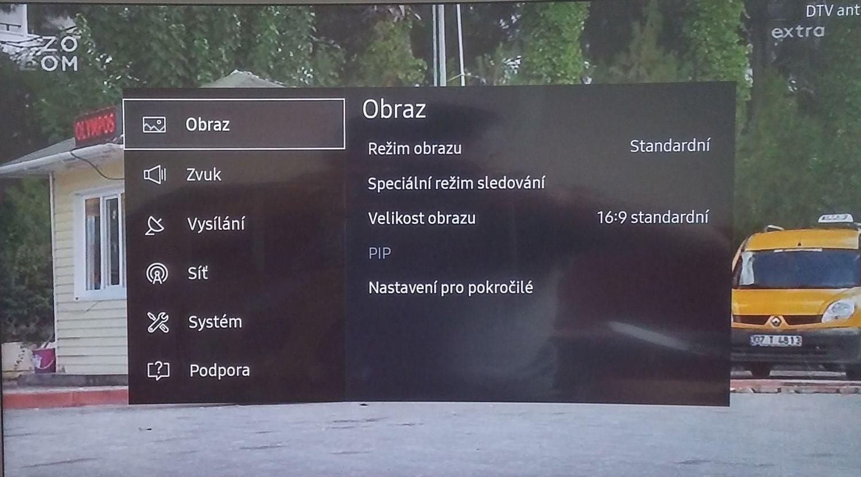 Samsung UE49K6372SU - menu nastavení