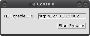JavaFX: H2 manažerská konzole