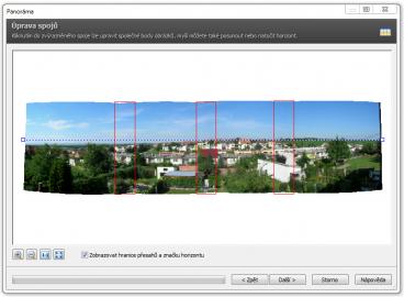 <p>Složení do panoramatického snímku by mělo být nyní přesnější</p>