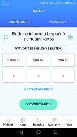 Virtuální karta vytvořená pomocí aplikace Poketka od České spořitelny (11/2020)