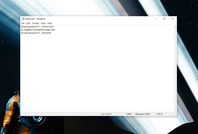 Dávkový soubor pro zákaz použití monitoru u vícemonitorových systémů