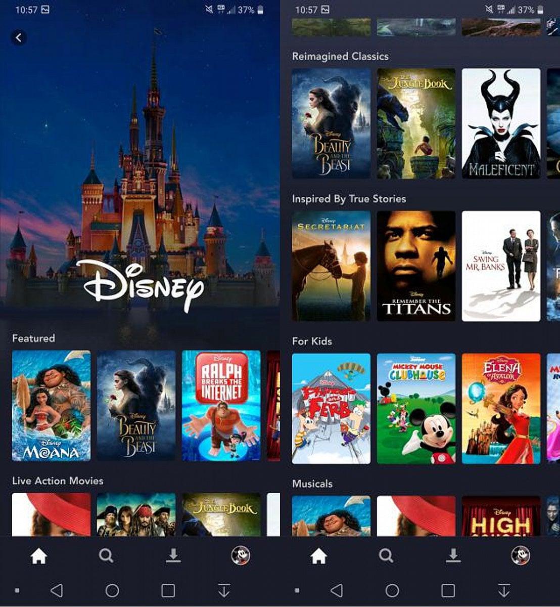 Disney+ na iPhone