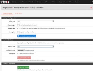 pfSense: Backup