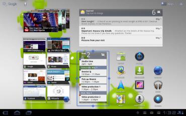 Home obrazovka Android 3.1