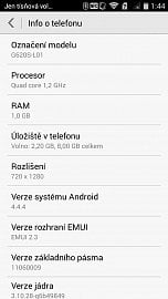 Yandex Money jsme testovali na mobilním telefonu Huawei Ascend G620s.