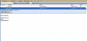 Mail tvářící se jako zpráva od Expobank vypadá jako avízo o platbě s odkazem na internetové bankovnictví